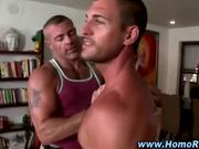 Muscley straight guy strips down