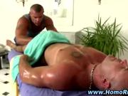 Gay hunk gives straight guy a handjob