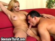 Blonde TS hardcore fucking horny stud