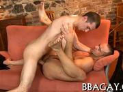 Gay stud gives lusty anal lickings