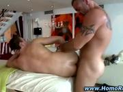 Real gay hunk gives straight guy anal