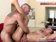 Straight guy gets a muscular anal and blowjob