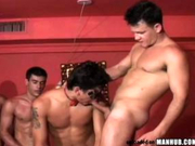 Big gay orgy with lots of fit &amp; hairy Latinos