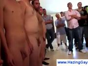 Frat house hijinx includes wanking & fellatio