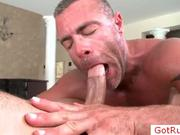 Guy get shis great penis licked