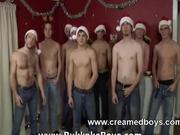 Gay gangbang jizz orgy