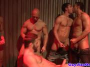 Greedy muscular hunks in mazol party